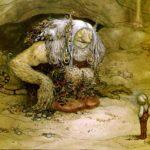 Trolle-Mythologie der großen, haarigen Bergwesen
